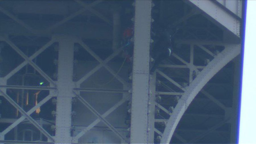 Eiffel Tower climber grabbed by police after sparking evacuation