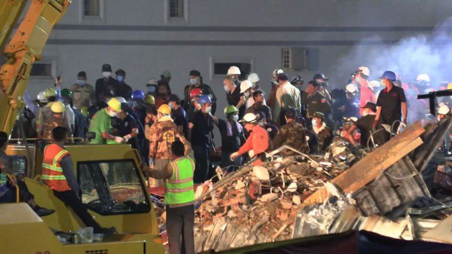 'No more survivors' likely in Cambodia building collapse