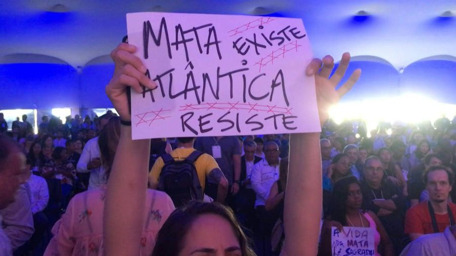 Protesters disrupt climate conference in northern Brazil