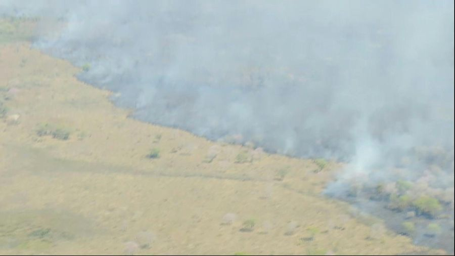 Aerial images of Brazil wildfires in Mato Grosso do Sul
