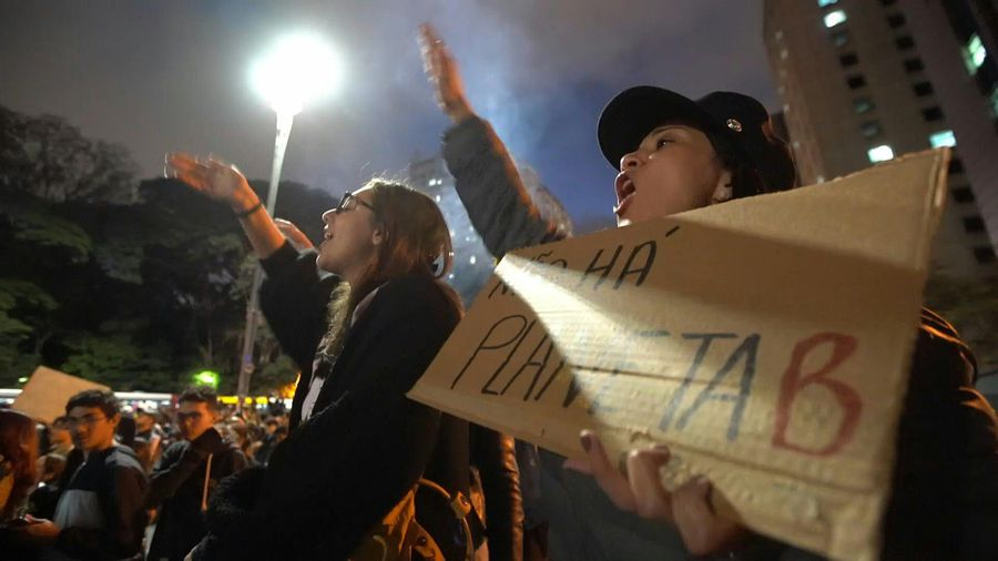 Protesters in Sao Paulo chant against Brazil's government