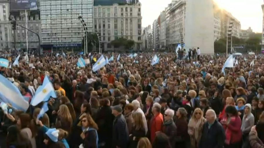 Pro-Macri demonstration in Buenos Aires