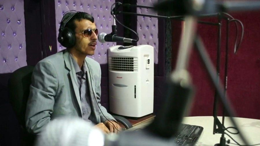 "Blind Yemeni anchor: ""I was born with a mic"""