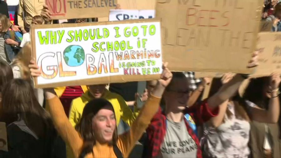 People join global climate strike in Brussels