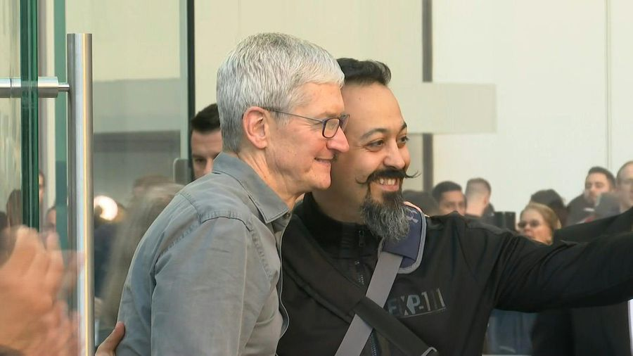 Tim Cook attends launch of Apple's iPhone 11 in New York