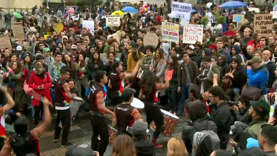 Fridays for Future: Climate strike in the Colombian capital