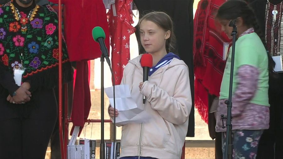 Teen activist Greta Thunberg leads climate strike in Denver, Colorado