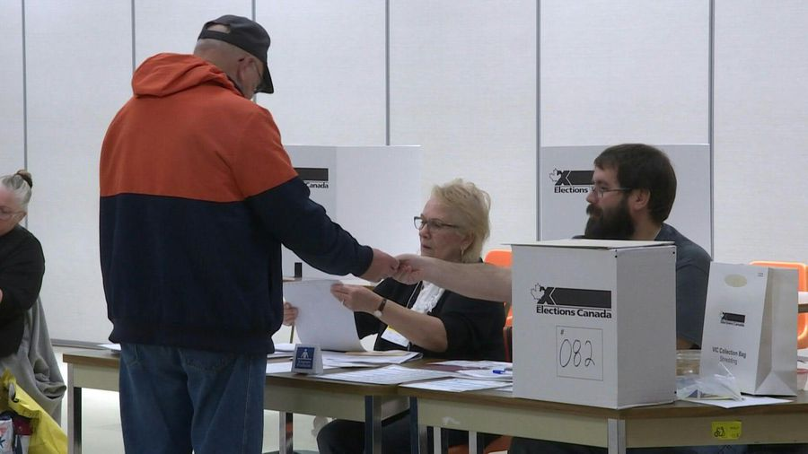 Saskatchewan voters cast ballots in Canada's federal election