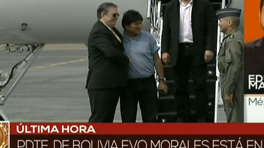 Bolivia's Evo Morales arrives in Mexico under political asylum