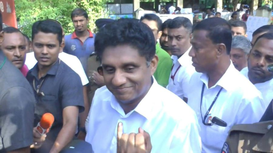 Sri Lanka: Premadasa votes in presidential election