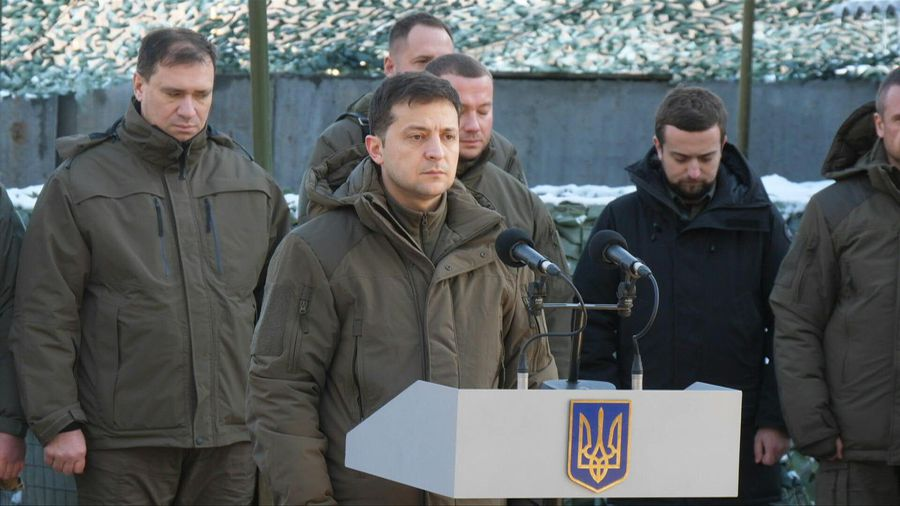 Ukraine's Zelensky visits front line before talks with Putin