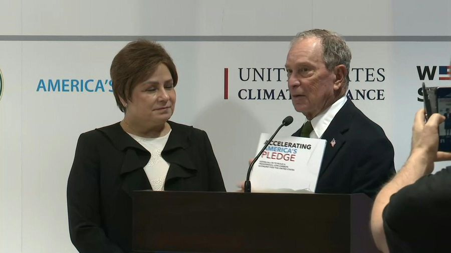 Democratic presidential hopeful Michael Bloomberg visits COP25