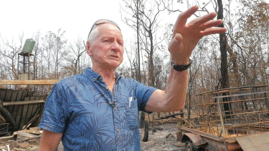 Australian braved fire 'hell' to defend his home but lort