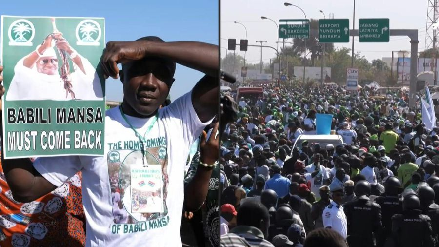 Thousands in Gambia rally in support of ex-dictator Jammeh