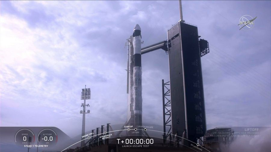 SpaceX conducts test launch from Kennedy Space Center