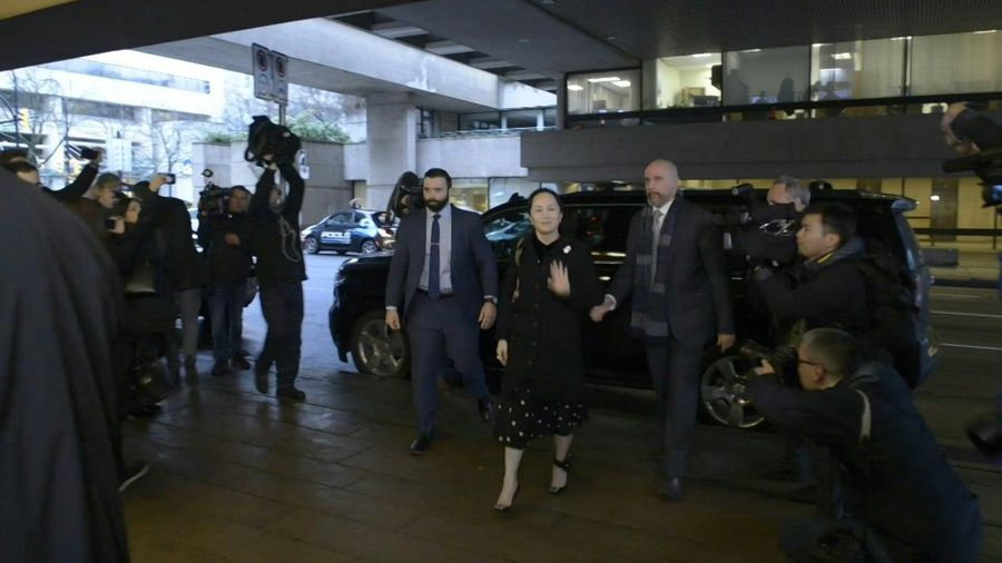 Huawei executive's extradition hearing begins