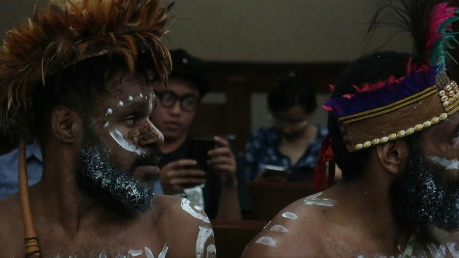 Papuans on trial in Indonesia 'forced' to remove penis gourds