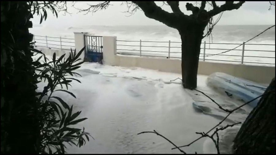 Huge waves as powerful storm batters coastal areas in southern France
