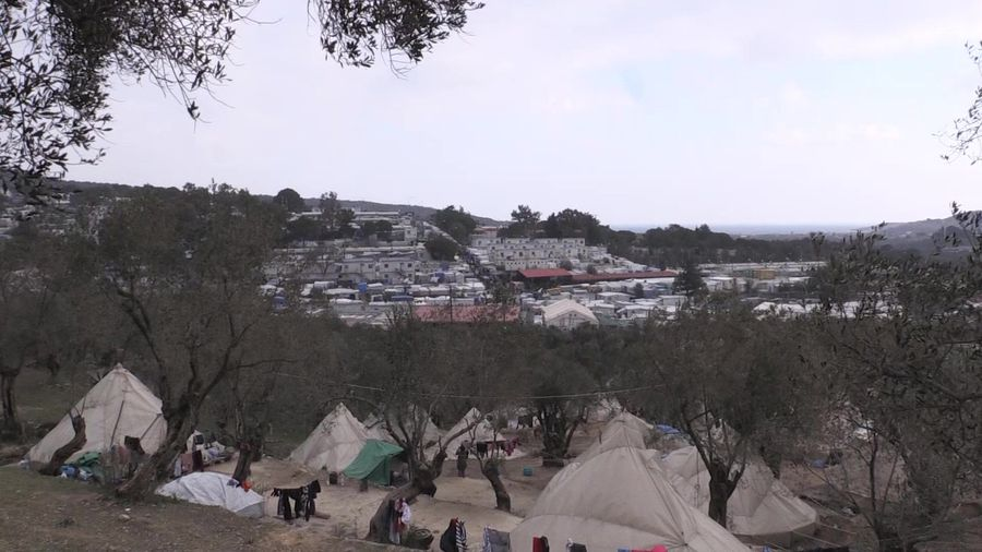 Conditions remain dire in Greece's overcrowded Moria camp