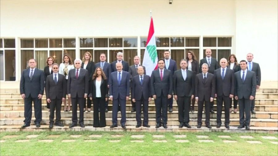 Lebanon's new 'Technocratic' government poses for first group photo