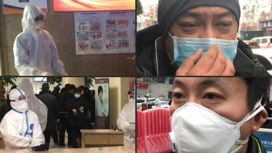 'I'm worried I'm infected': Wuhan hospital patient