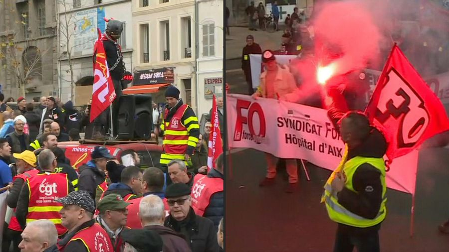 Pension reform: hundreds of demonstrators protest in Marseille