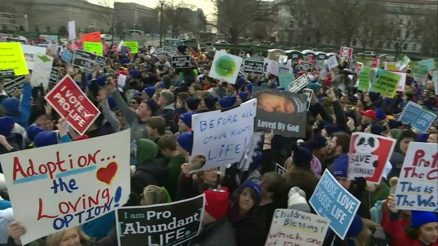Thousands gather ahead of annual 'March for Life' in Washington, DC
