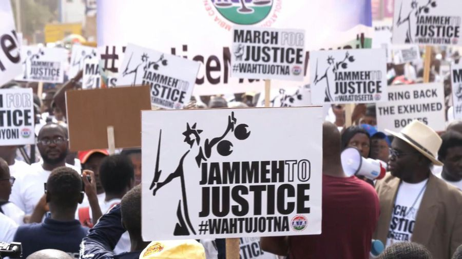 Gambians rally seeking ex-dictator's trial for murder and rights abuses