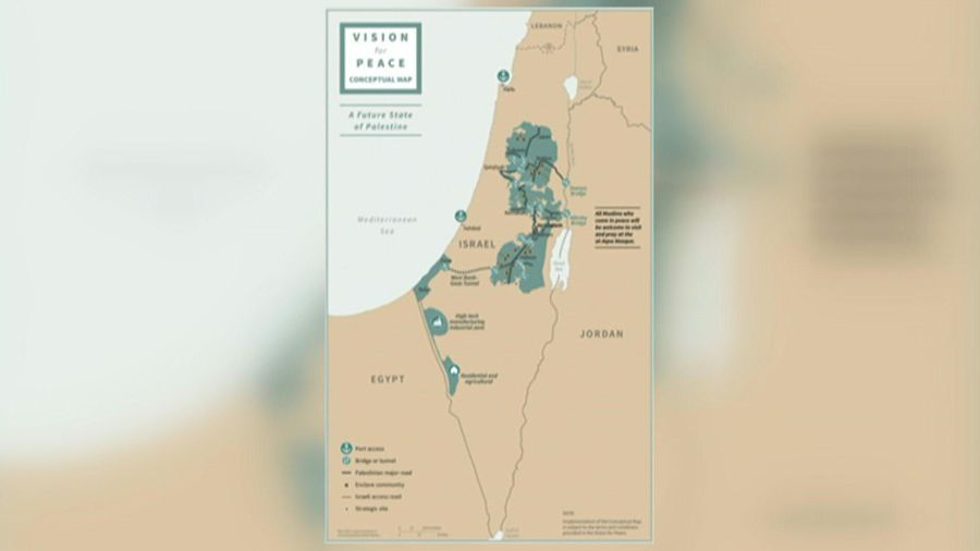White House releases map of proposed Israeli, Palestinian state borders