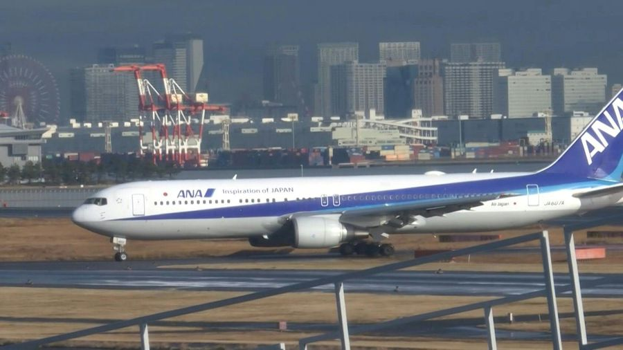 Plane carrying Japanese evacuees from Wuhan lands in Tokyo