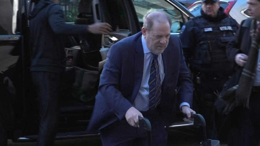 Harvey Weinstein arrives at court for prosecution's closing argument