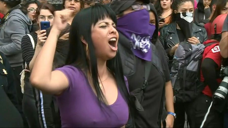 Mexicans protest against gender violence after murder of young woman