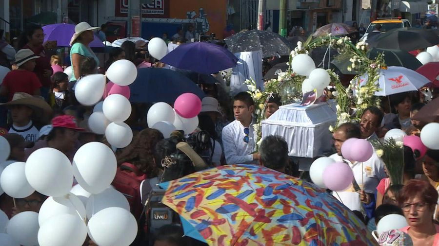 Thousands attend funeral of murdered seven-year-old girl in Mexico