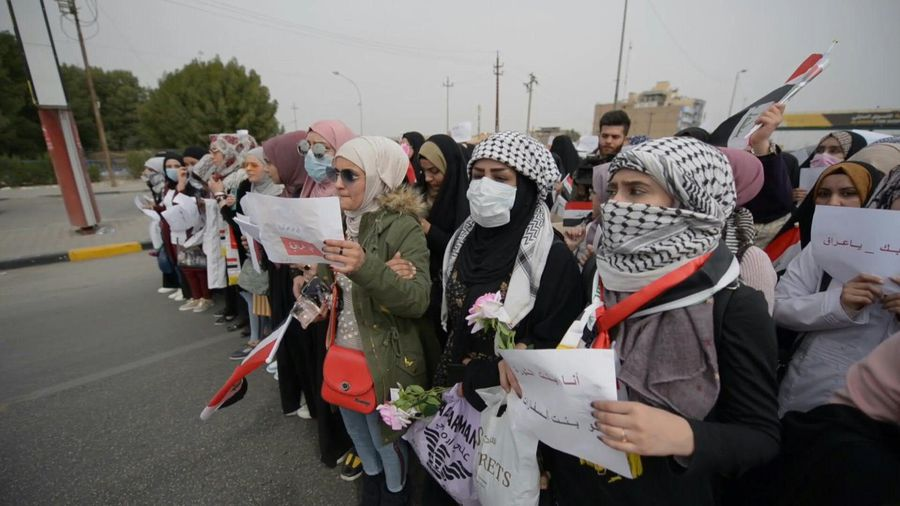 Iraq: all-women protest held in holy city of Najaf