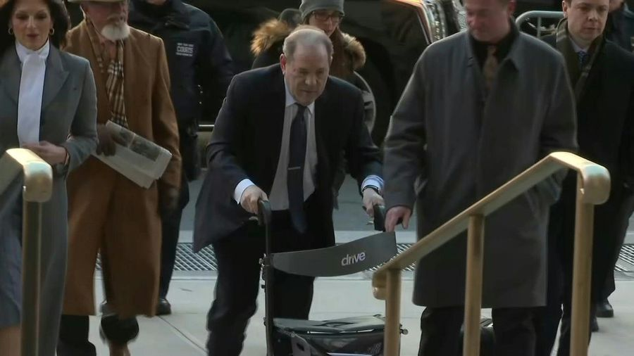 Harvey Weinstein arrives at court as jury deliberations enter fourth day
