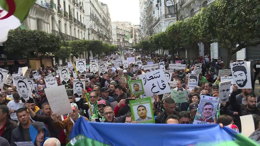 Algerians flood streets to mark protest movement's first birthday