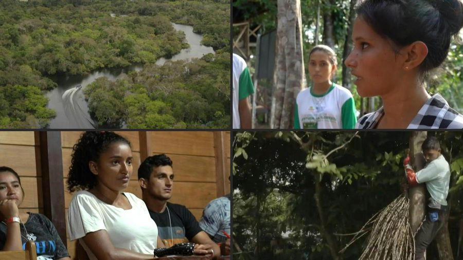 The young people of the Amazon, proud protectors of their jungle