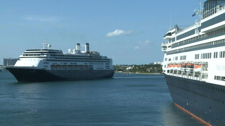 Virus-hit cruise ship Rotterdam arrives in Florida port