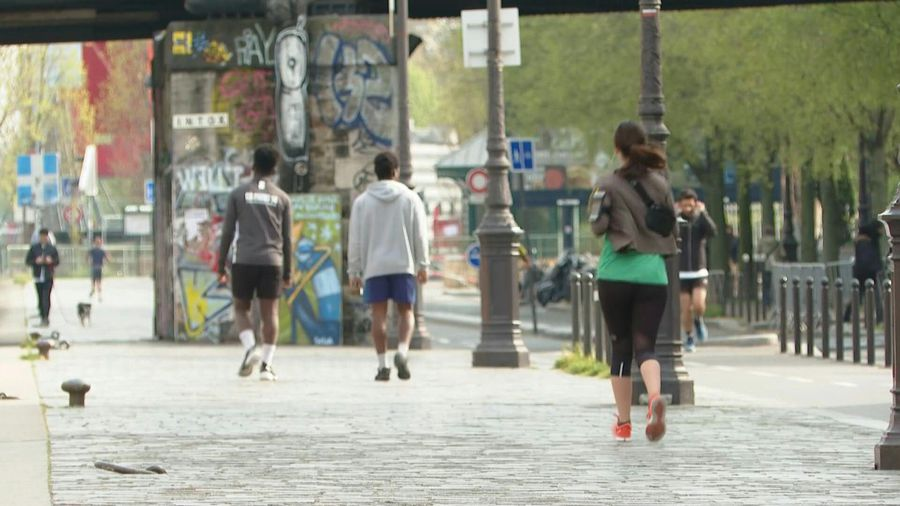 Coronavirus: Joggers react as Paris bans all outdoor exercise from 10am to 7pm