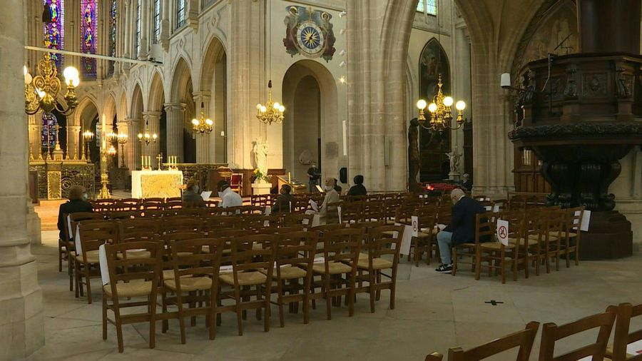 France: Worshippers attend mass in Paris as lockdown eases