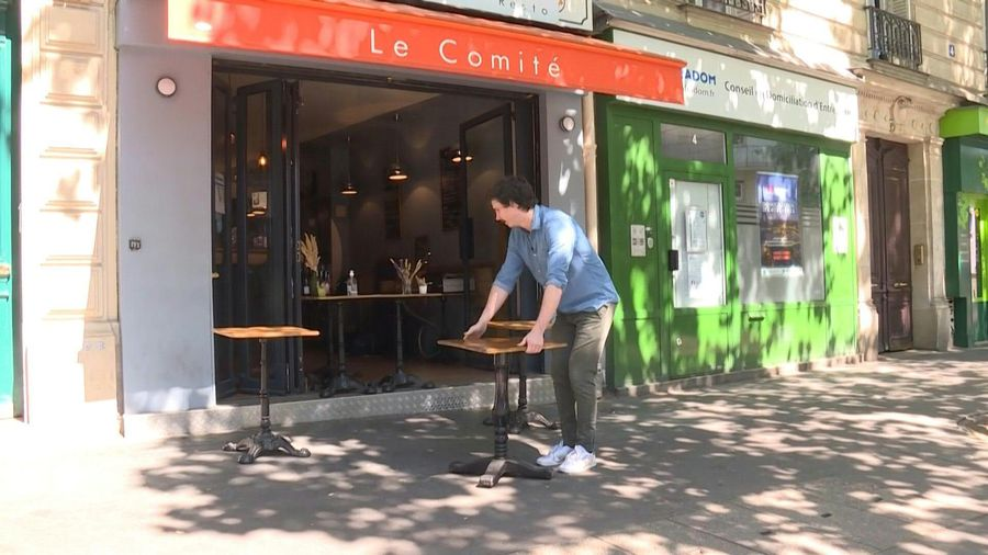 Bars and restaurants in Paris prepare to reopen their terraces
