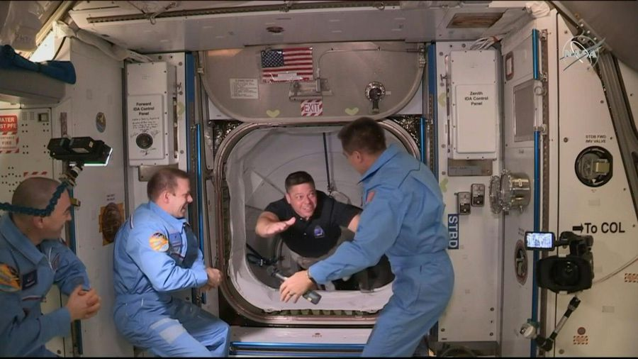 US astronauts on landmark SpaceX mission board the ISS