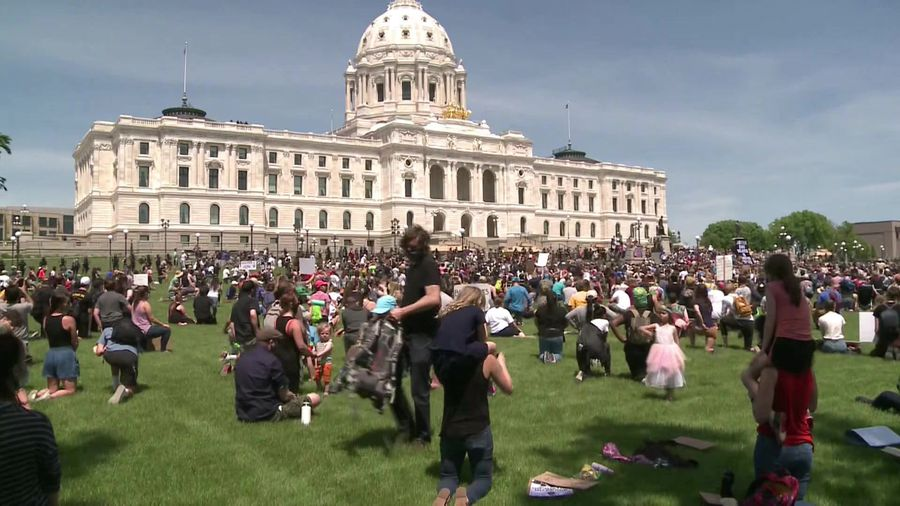 Protest outside Minnesota State Capitol over George Floyd death