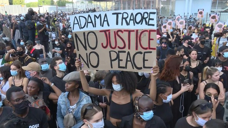 Thousands rally in Paris to protest police brutality