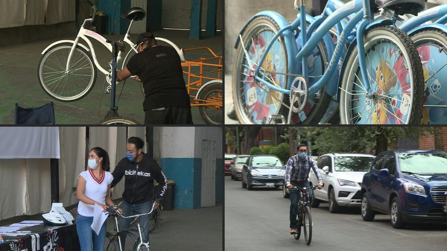 Mexico: medical workers facing discrimination receive donated bikes