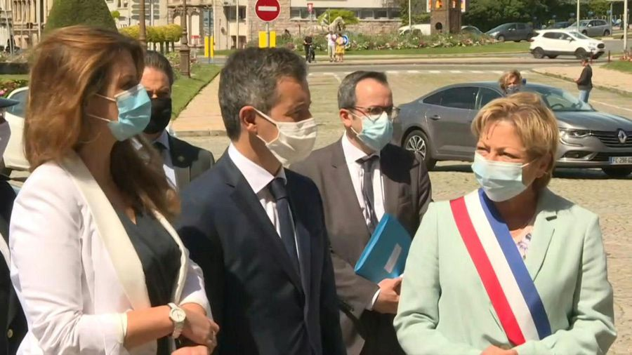 French ministers Darmanin and Schiappa in Calais for meeting with UK minister Patel