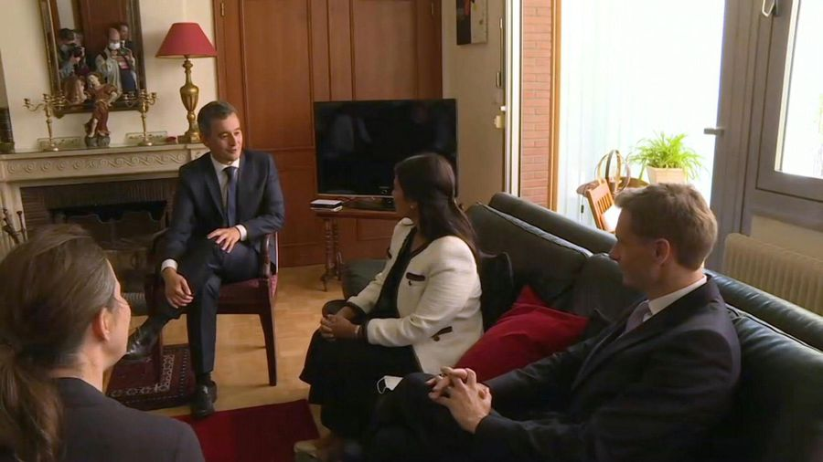 British minister Patel meets with French counterpart Darmanin in Calais