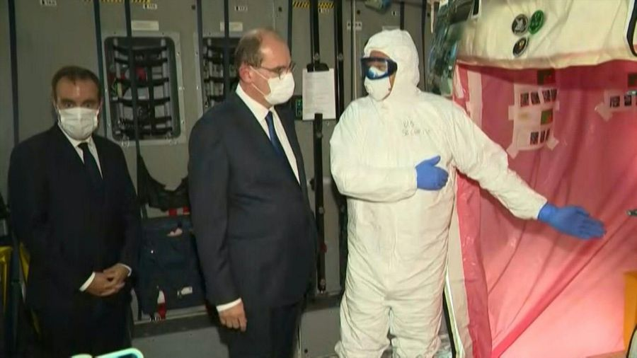 PM Castex visits medicalised aircraft in French Guiana amid health crisis