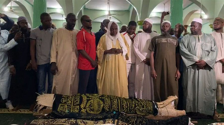 Malian imam and opposition movement leader Dicko leads funeral prayers for clash victims