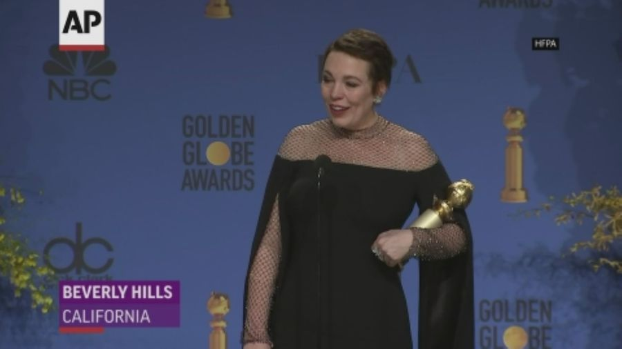 Olivia Colman talk Globes wins backstage